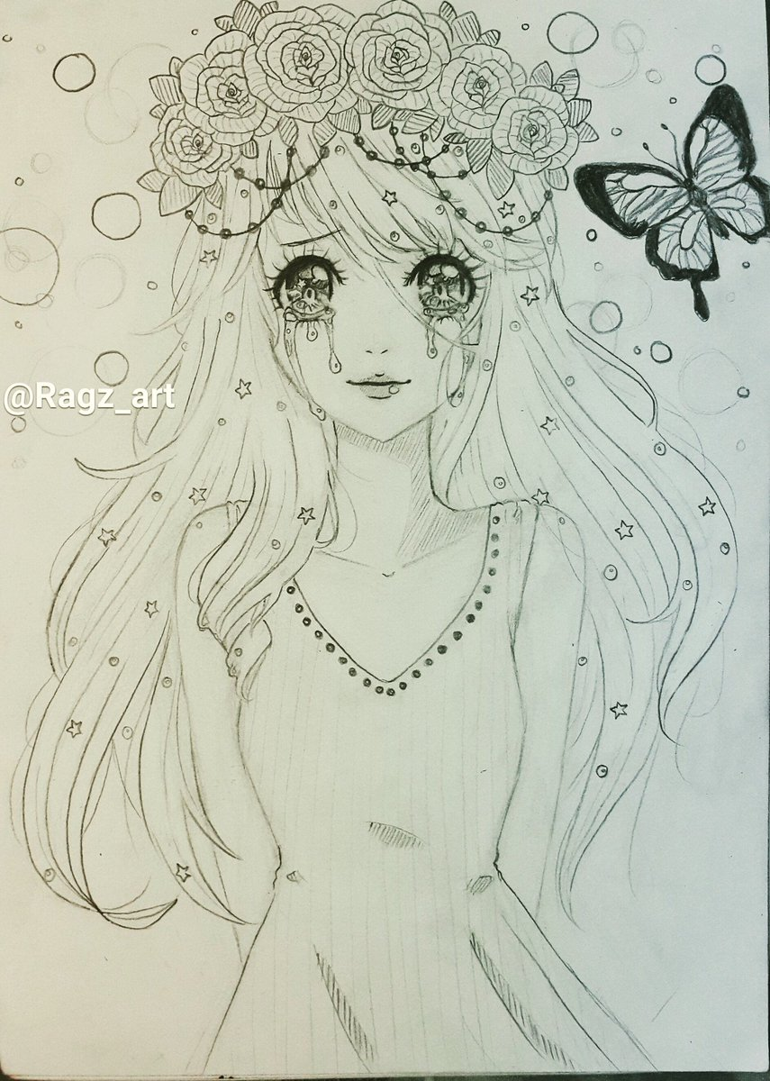 Anime With Flower Crown Drawing Flowers Healthy