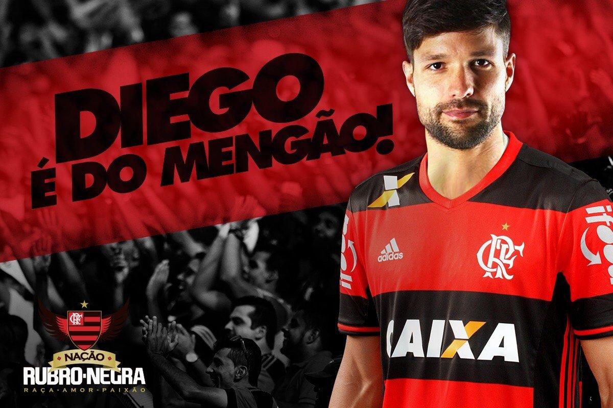 Ele veio! @Flamengo @ribasdiego10  #DiegoMengão #iFoodNoMengão https://t.co/tCoMqmn5Ov