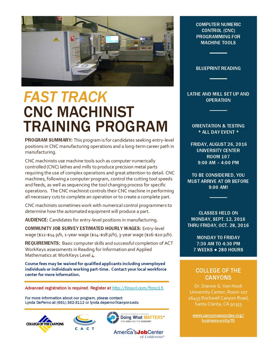 Start your career today and become a CNC Machinist! Don't let this opportunity pass you by #careers #jobs #training