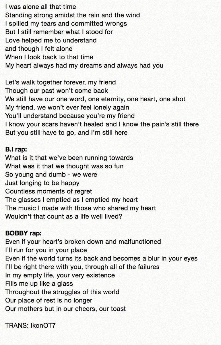 Rap Lyrics About Best Friends — TTCT