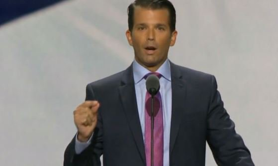 Donald Trump Jr. 'One of the proudest moments of my life to put him over the top at the delegate county today'