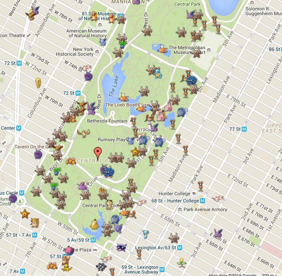 Pokemon Go Nyc Map Pokémon Go Astoria on Twitter: