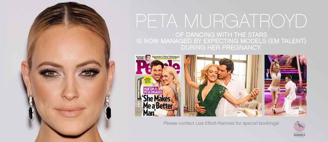 .@PetaMurgatroyd is now managed by #expectingmodels for #maternity #specialbookings! @DancingABC #Bumpwatch https://t.co/7AvhpR9nsN