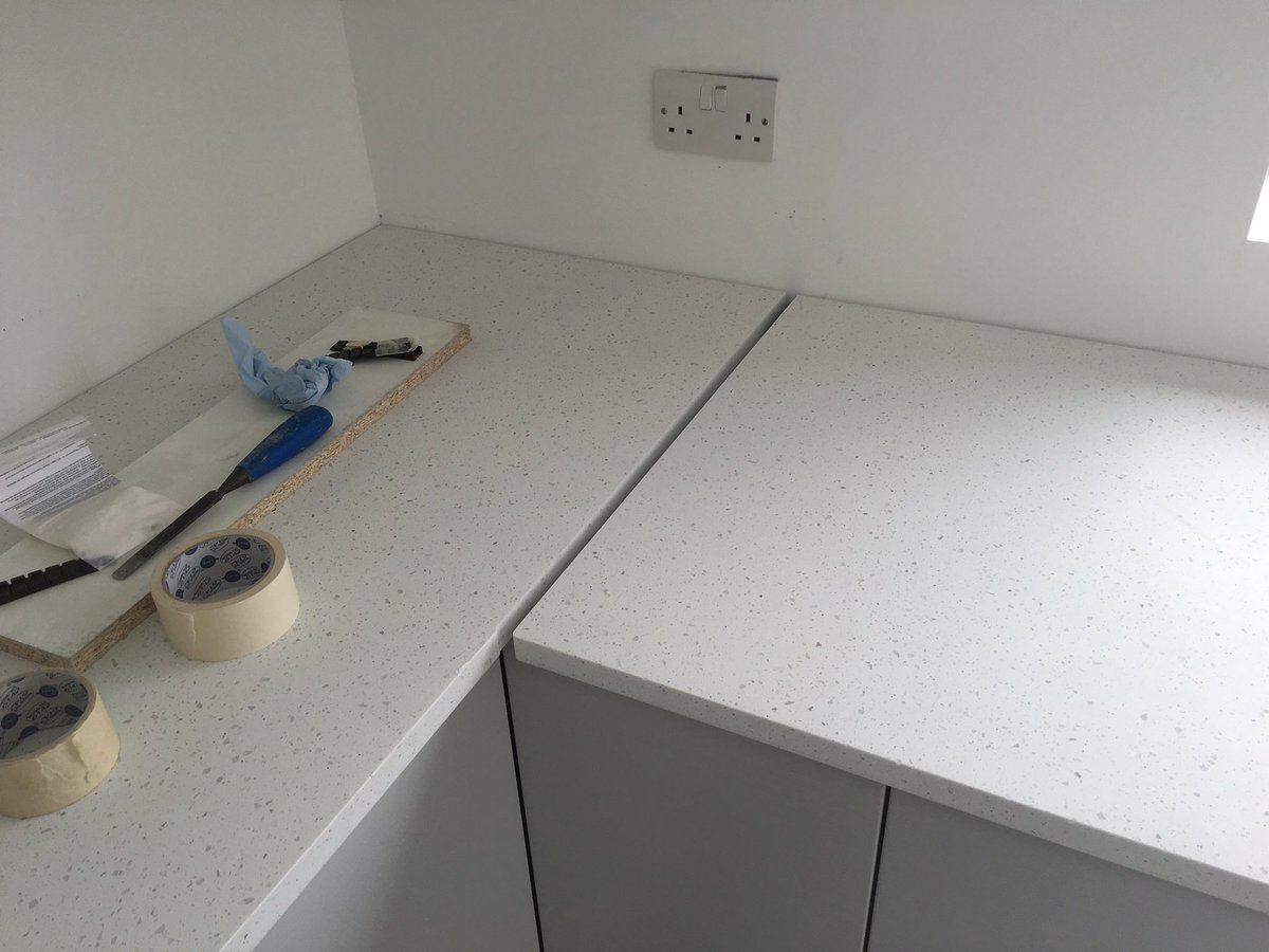 Minerva bathroom tops minerva - Purbeck Kitchens On Twitter Worktop Jointing This Morning Sylmar Minerva Solid Surface Ice Crystal Masterclasskitc Https T Co Hcjvr0h3om
