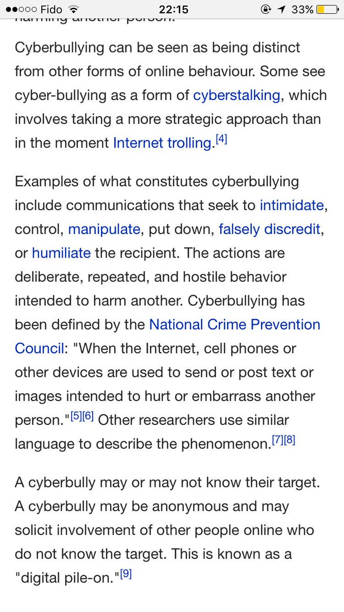 "sahirsbeard♛ on twitter: ""the legal definition of cyber bullying"
