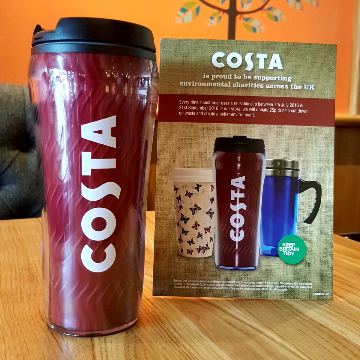 Costa Coffee On Twitter Use Any Reusable Cup In Our Stores