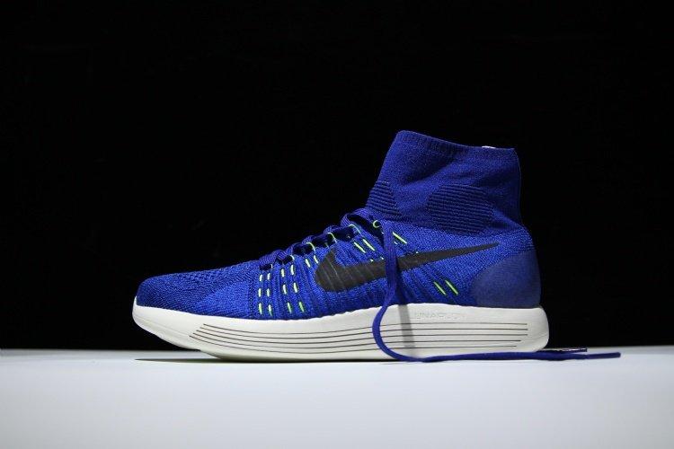818676 400 Nike Lunarepic Flyknit Deep Royal Blau Männer