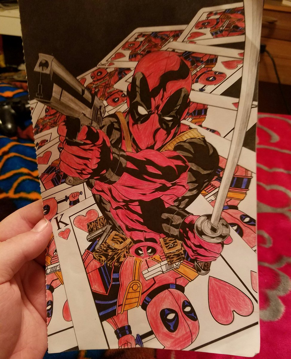 jack constantine on twitter third page from the deadpool coloring book finished deadpool httpstcoj0mc113xyc - Deadpool Coloring Book