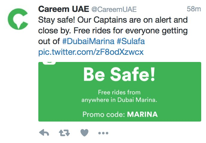 The difference between @CareemUAE and @Uber_UAE……..well done Careem! :) #SulafaTower #Sulafa https://t.co/hW2m34oUfY