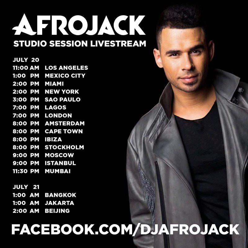 Today is the day of @afrojack's studio session livestream so stay tune on his facebook page