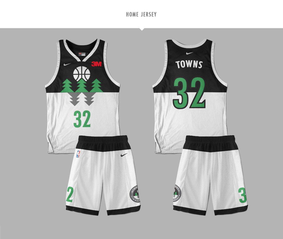Minnesota Timberwolves Jersey Redesign