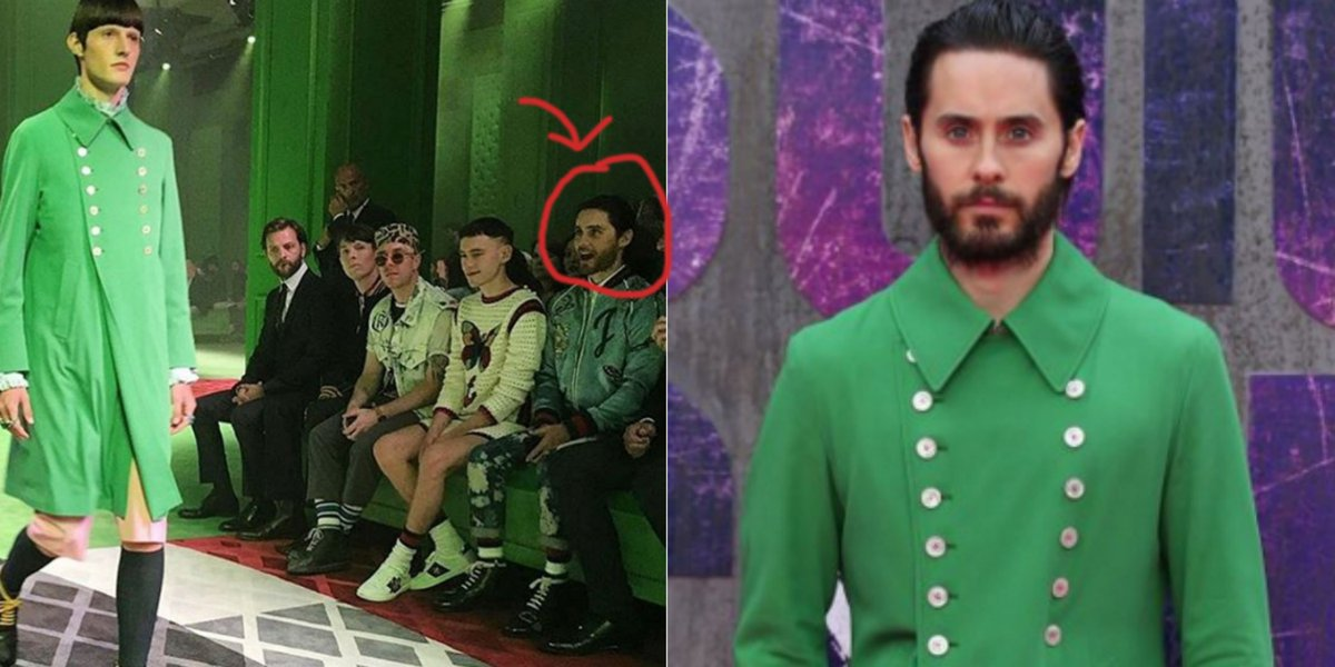 bcea0ac1aa83 witness the exact moment jared leto fell in love with his green gucci jacket