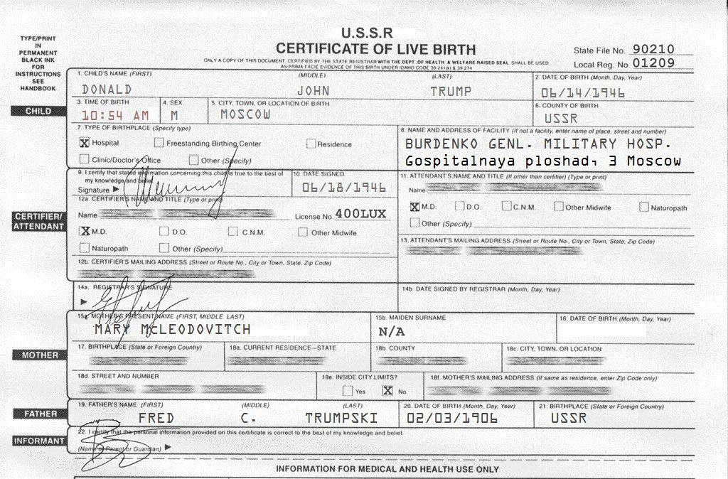 Trumpbirthcertificate Hashtag On Twitter