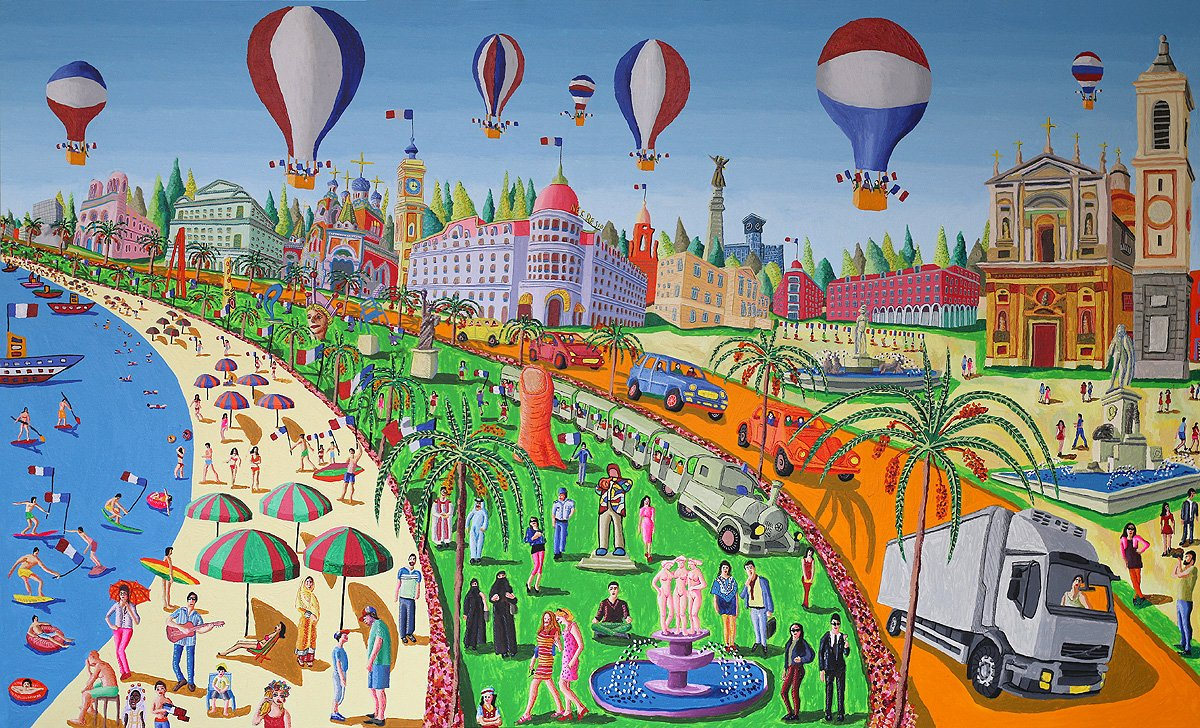 Naive Art Paintings Folk Artworks Painter Naif Artist