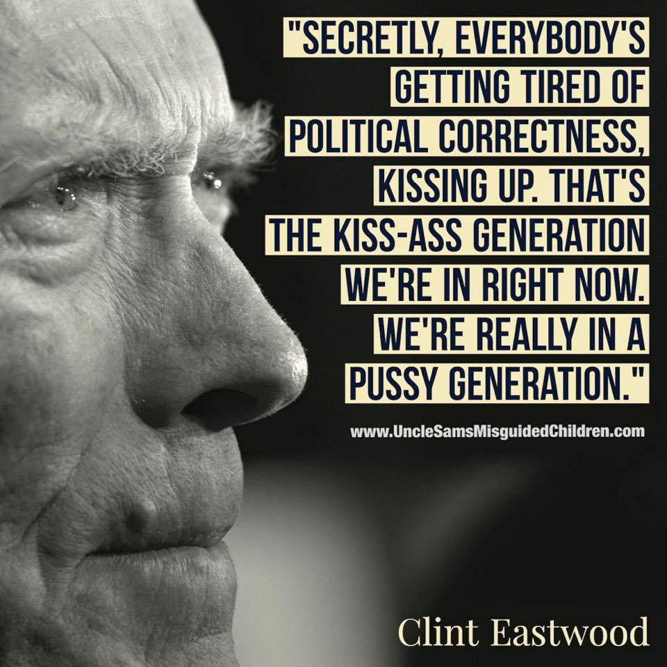 Clint eastwood tells kiss