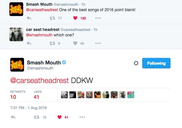 Simon Vozick Levinson On Twitter Smashmouth Knows Whats Up