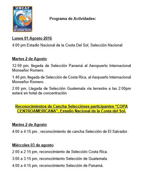 Torneo UNCAF 2016 en El Salvador. Co0GkYHVYAEIBOD