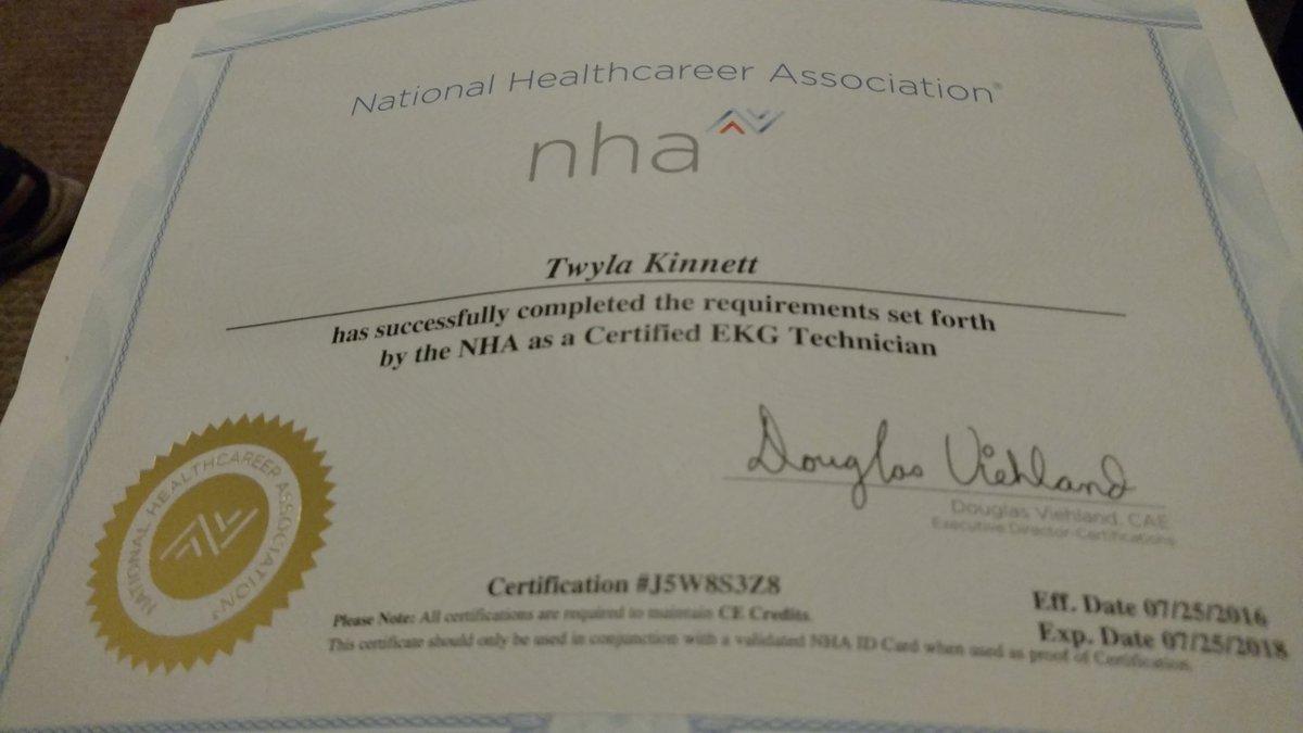 Twyla Kinnett On Twitter Im So Excited I Got My Cet Certificate