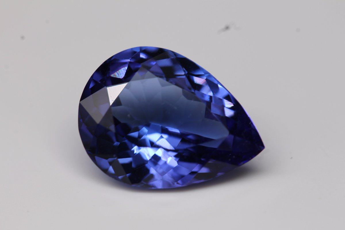 bluegem cts aaa pear pin jewels tanzanite gemstones gems jewelry