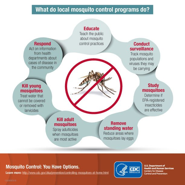 Mosquito control activities can reduce mosquitoes incl. those that spread viruses like #Zika, West Nile & dengue.