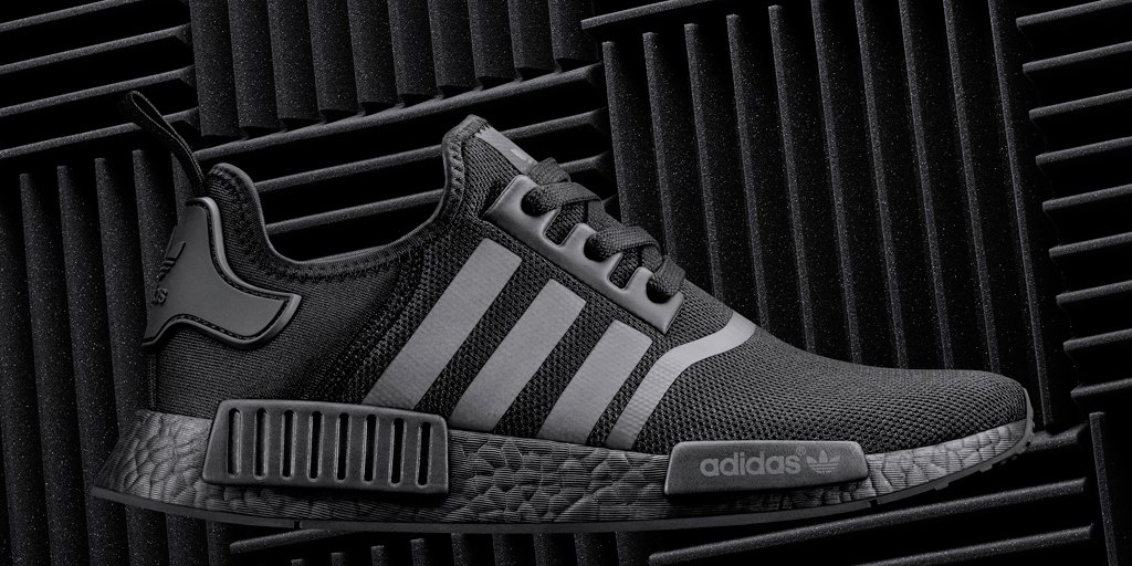 2d08d7bbc triple black with reflective stripes go stealth september 17th nmd