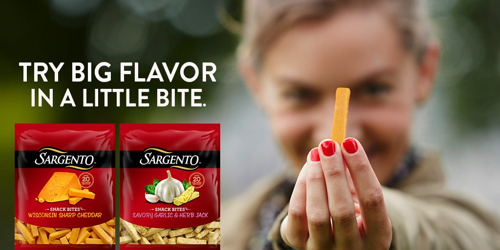 Big flavor in a little bite - Sargento Snack Bites™. RT & enter to #win a $25 GC + coupons! https://t.co/HdkVCz7tcH https://t.co/pK8aP0gPjv