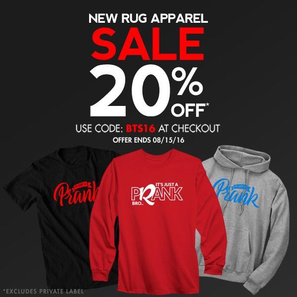 Rug On Twitter Guys We Got New It S Just A Prank Apparel Also With Back To School Https T Co Plfnrpkrce Check Out