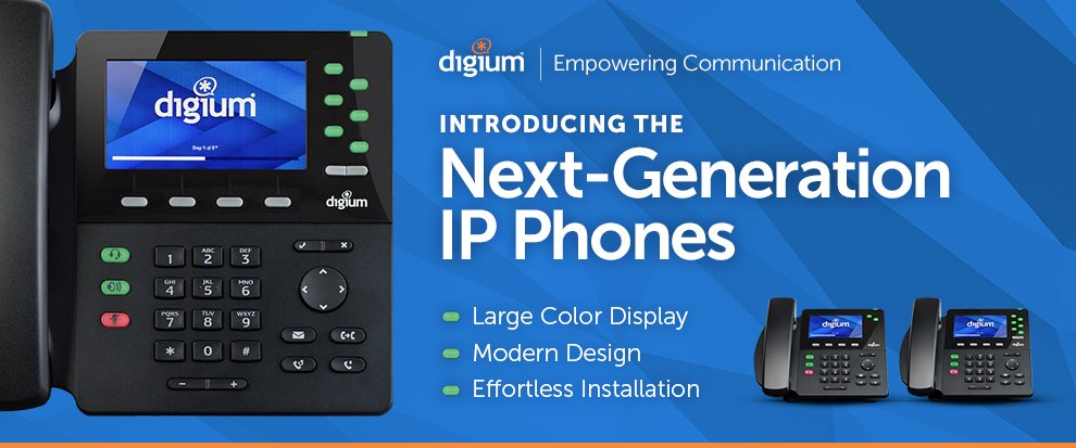We are pleased to announce the release of a new series of Digium IP Phones - https://t.co/fAbUcdaxBD https://t.co/Qc15hRVzKO