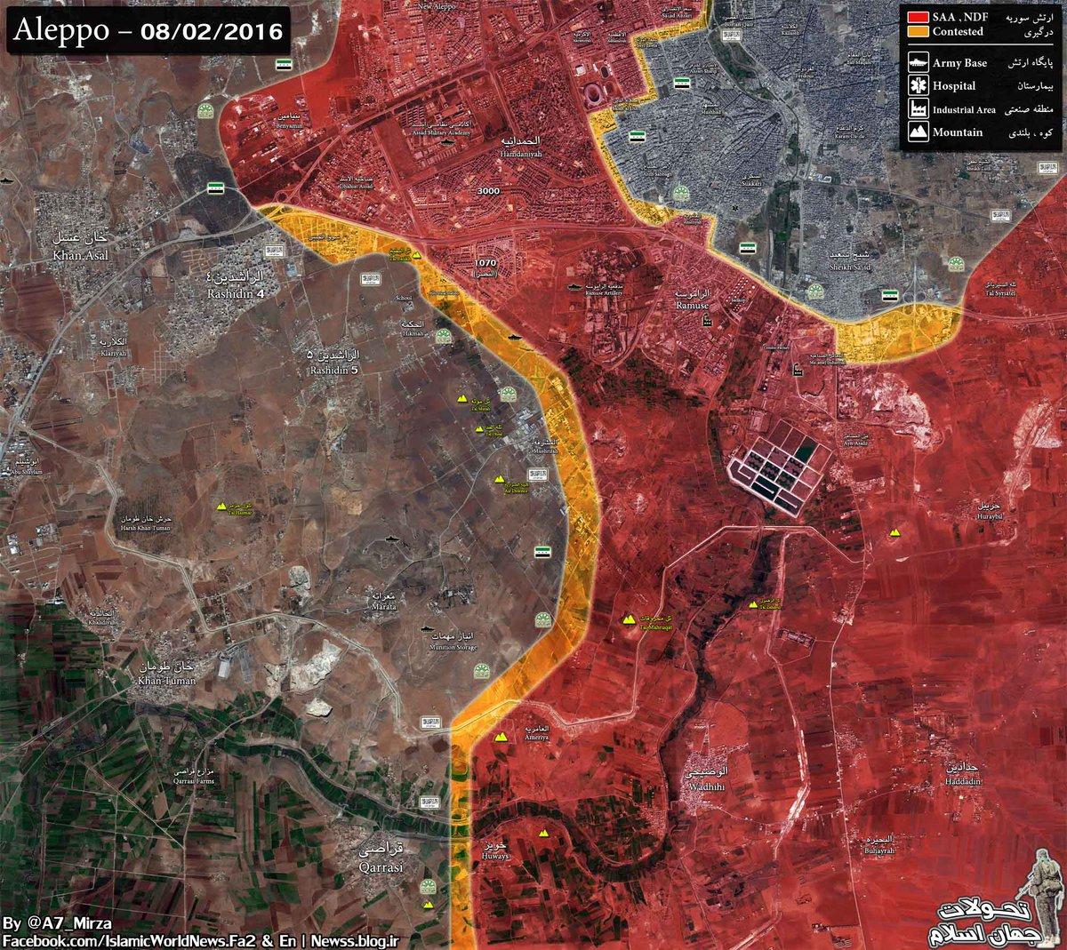 Islamic World News on Twitter Aleppo Map Updated Tal Mahruqat