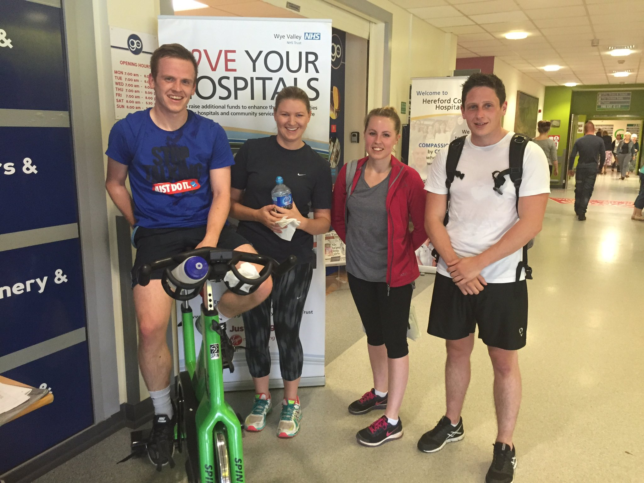 "@HowardOddy ""team finance"" spinning for #EachBabyCounts they have covered miles! Well done chaps #FinanceActive https://t.co/9TN5nzkDqX"