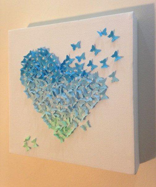 Картинки с объемными бабочками, красивые поздравления