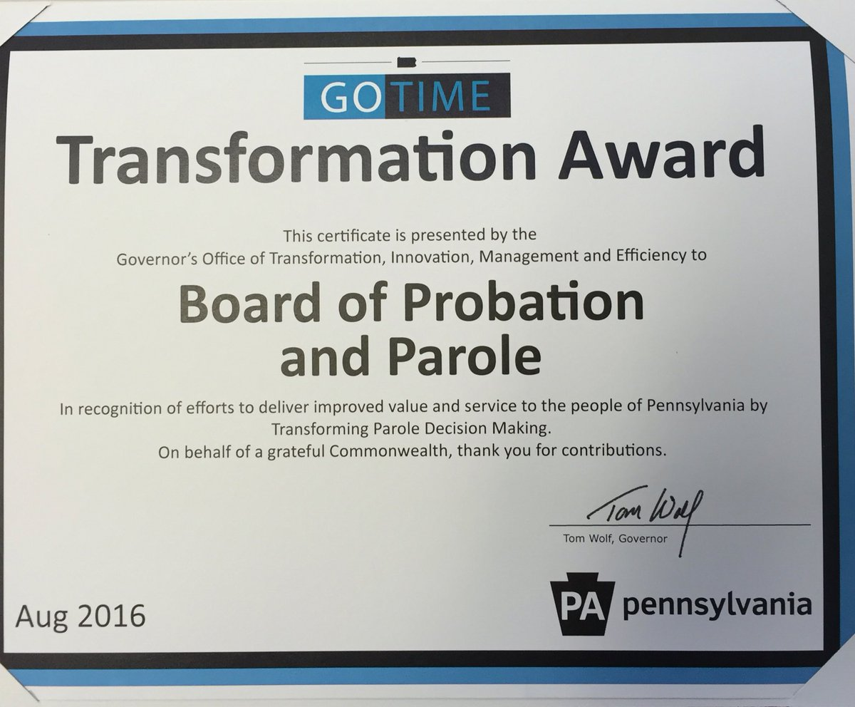 PA Board of Probation and Parole on Twitter