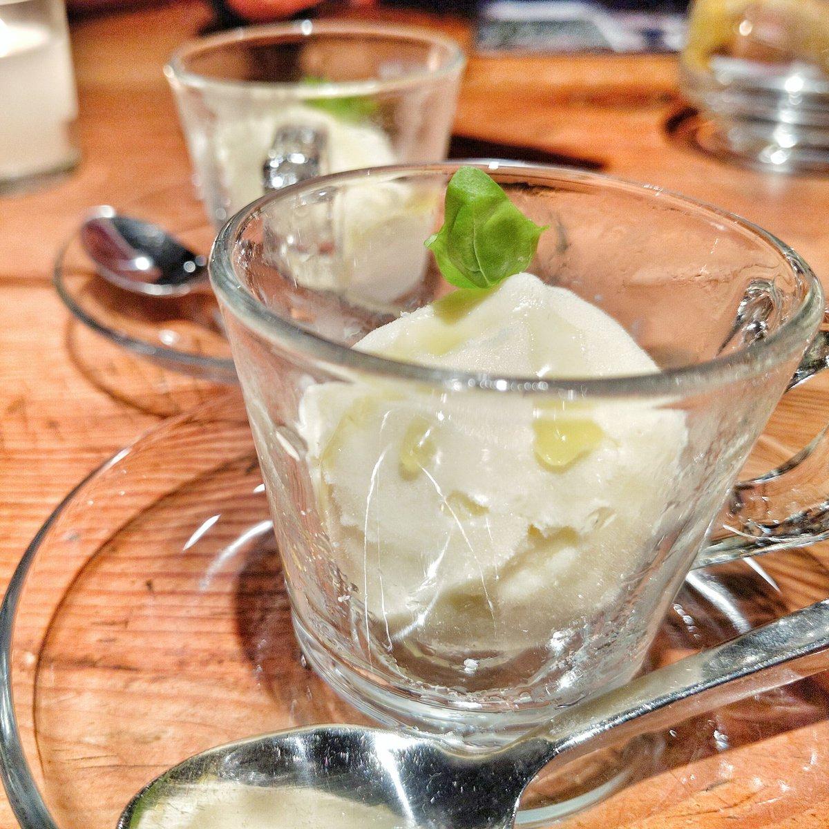 Olive Oil gelato at Buca for Redoro Olive Oil Tasting in Toronto, Ontario