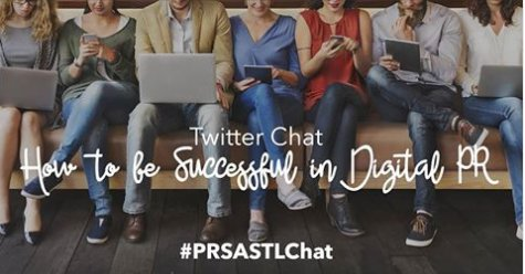 3 hours until our #PRSASTLChat! Join us at 6PM to talk with fellow #PRpros about how to be successful in #DigitalPR! https://t.co/UaGYMF1Chd