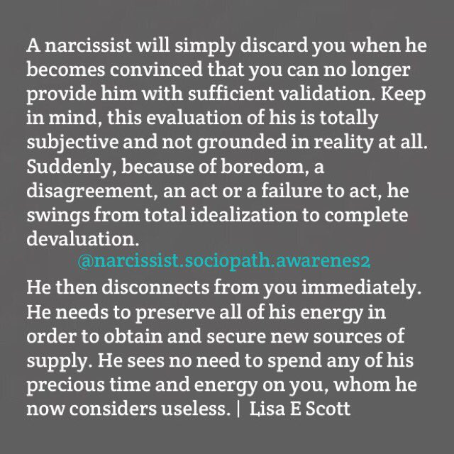 Narcissist discard
