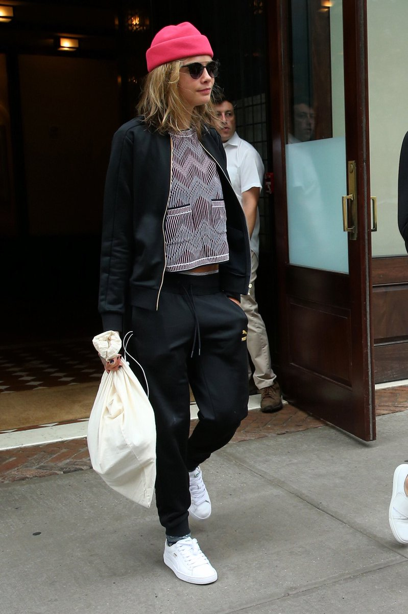 Watch Cara delevingne leaves her hotel in nyc video