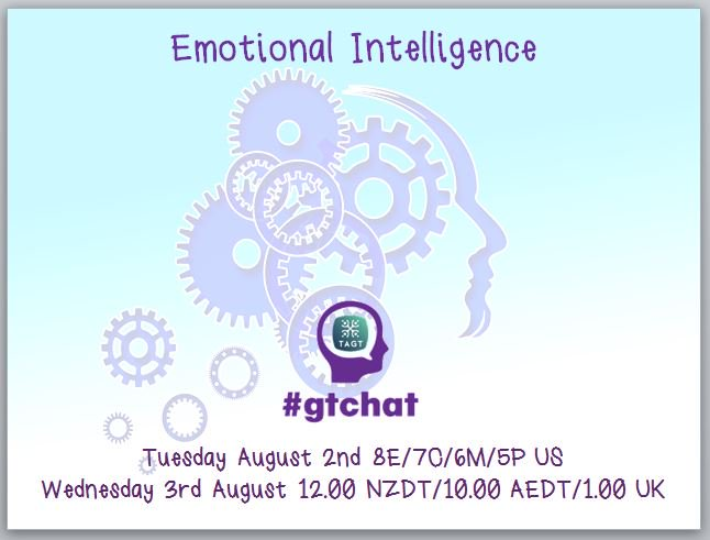 "Starting now! Discuss ""Emotional Intelligence"" with #gtchat https://t.co/XGzh7wHZ9Q"""