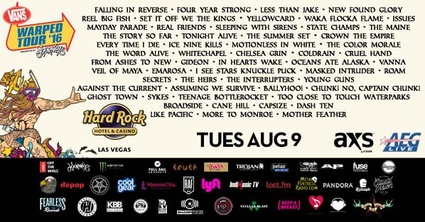 @VansWarpedTour is just 1 WEEK FROM TODAY at #TheBackyard @HardRockHotelLV! RT for your chance to win a pair of tix! https://t.co/DQPqZnpIpD