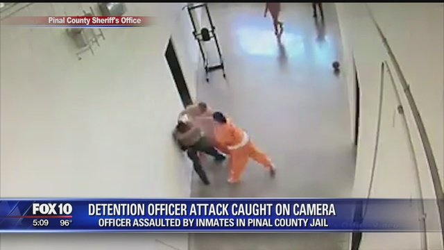 Caught Camera Detention officer assaulted inmates Pinal