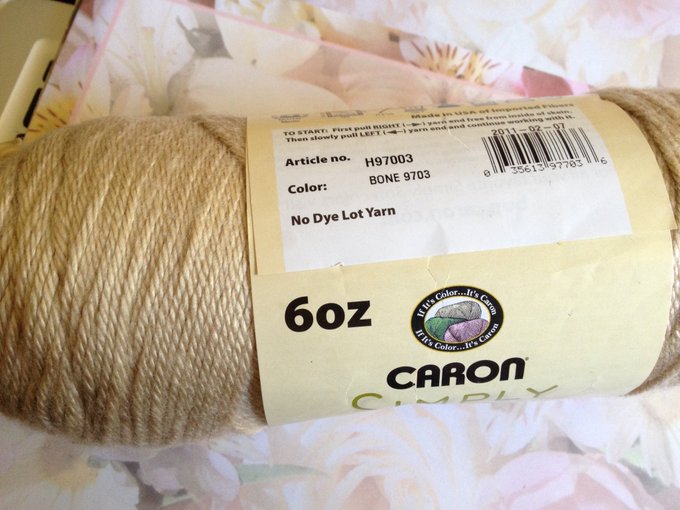 Bone Caron Simply Soft 4 Ply Yarn, Knitted Worsted, Crafting, DIY