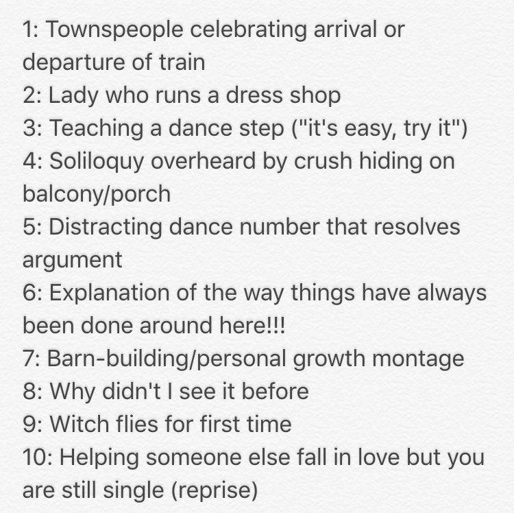 Top 10 songs in musicals