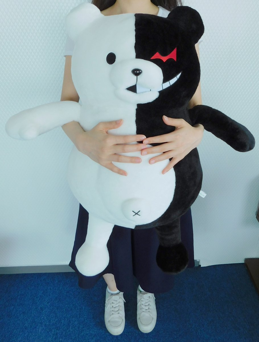 Spike chunsoft eng on twitter life sized monokuma for Life size shark plush