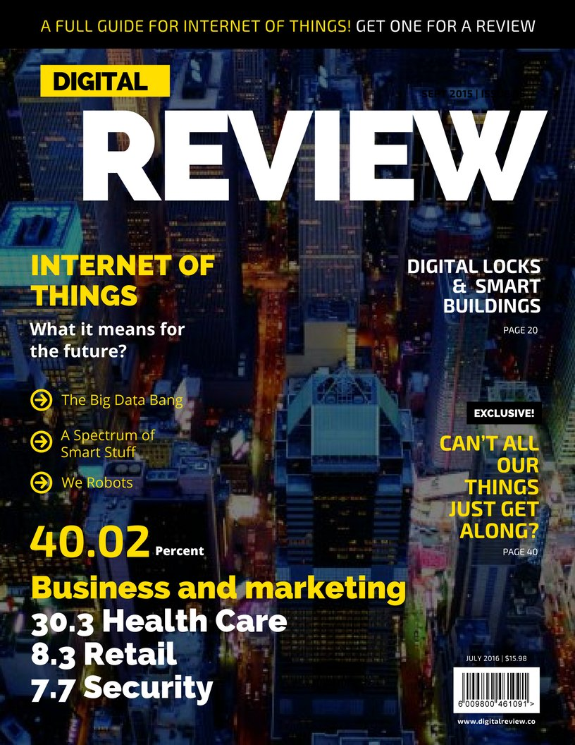 Internet of things: A full review with definition, applications and examples