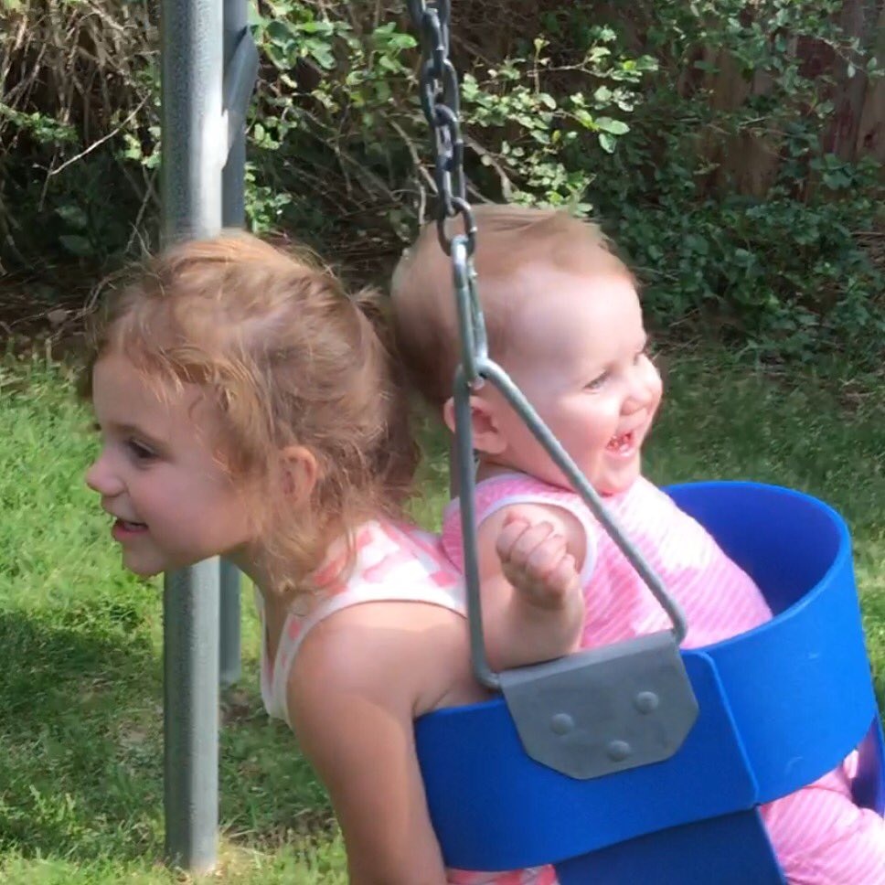 Her first time swinging