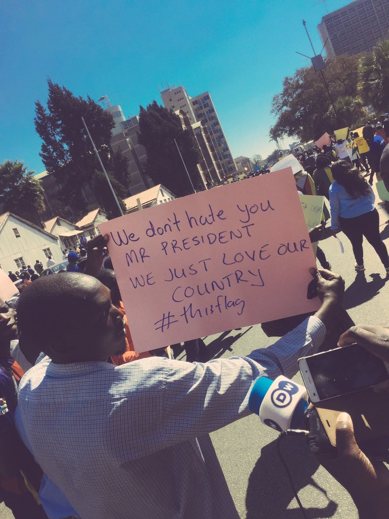 """""""We don't hate you Mr President. We just love our country"""" #Thisgown #NoToBondNotes #ThisFlag"""