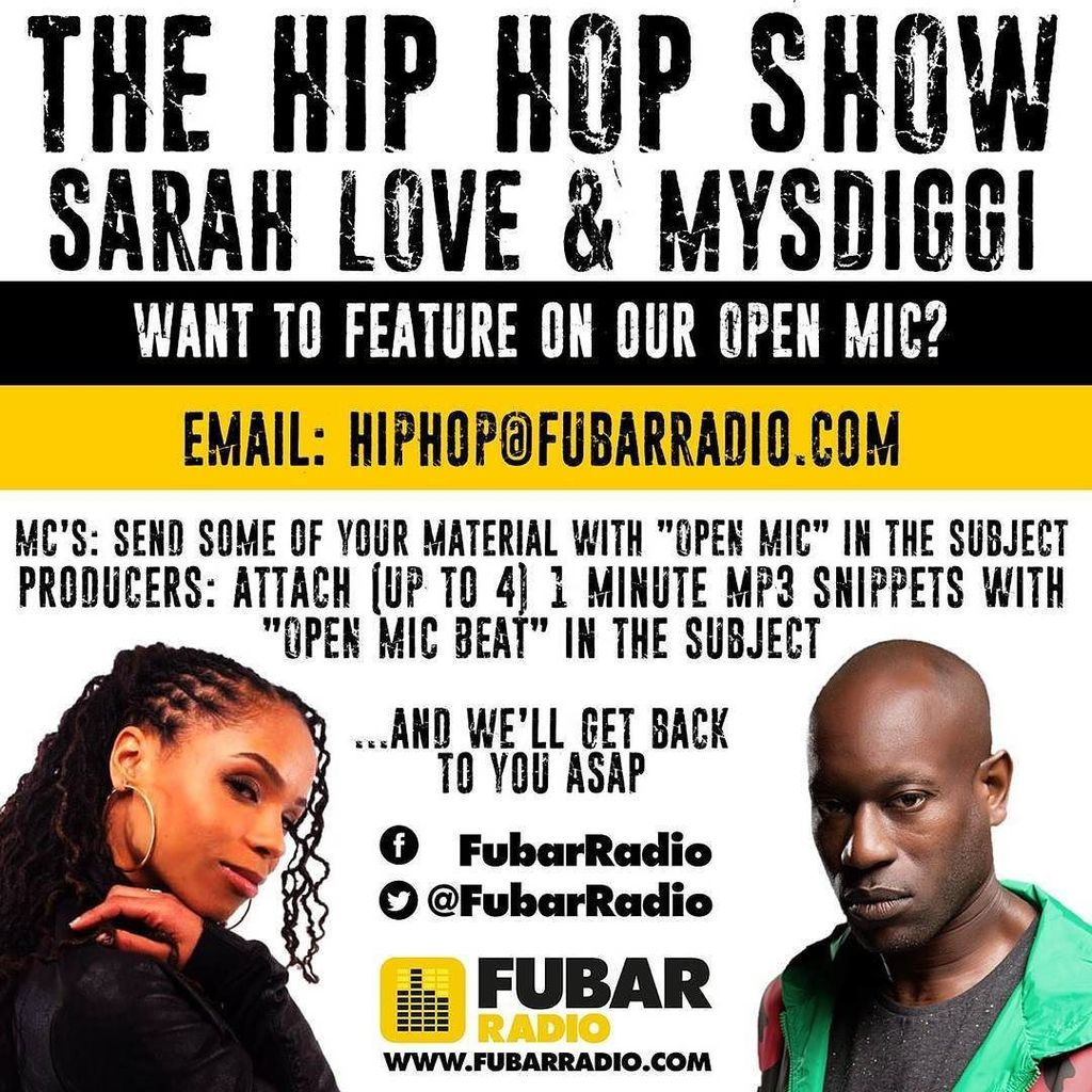 CALLING ALL MC'S & PRODUCERS!!! If U wanna be involved in the @fubarradio #HipHop show #Op… https://t.co/vtFGKXLIia https://t.co/f8BMUE41Q6