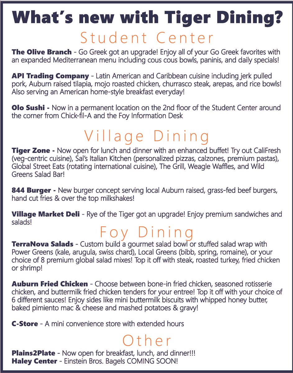 Tiger Dining On Twitter Moving Into The Village Today Be Lookout For Golf Carts Ping Out Free Water You