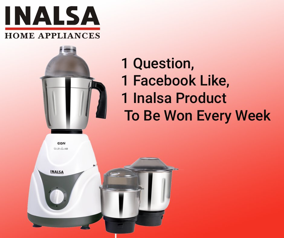 Inalsa Appliances On Twitter Win Inalsa Products Https