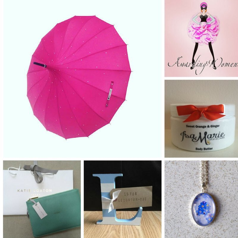 MEGA £80 #giveaway #win FLW + RT 2enter @AwardingWomen  @LoveUmbrellas  @hewsonandnash  @tpdesigns1  @R_M_Jewellery https://t.co/tvbi8X4KxI