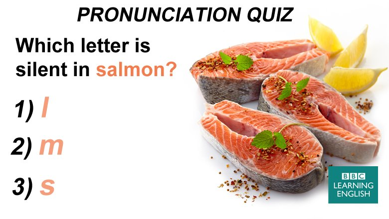 Bbc learning english on twitter pronunciation quiz this pink fish bbc learning english on twitter pronunciation quiz this pink fish is called salmon but do you know how to pronounce it forumfinder Choice Image